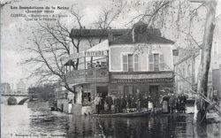 Corbeil Inondations 1910 - Quai De La Pêcherie - 'A l'acacia